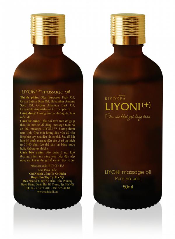 Dầu massage bôi trơn Liyoni cho phái mạnh thêm mạnh, thêm tự tin!