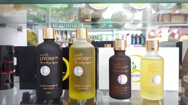 Dầu massage Liyoni gồm 2 hương thơm nam tính và nữ tính