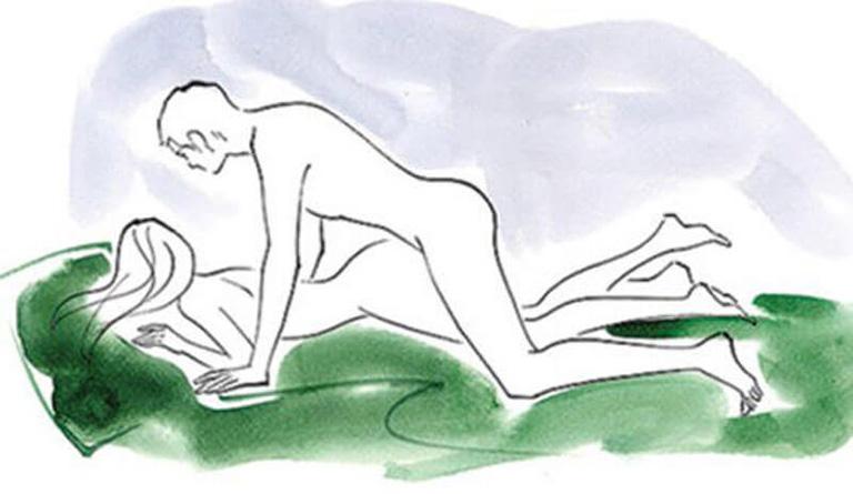 Tư thế úp thẳng giúp kéo dài thời gian quan hệ